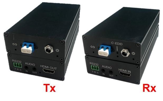 HDMI+USB+RS-232+Audio, 4K/2K Transmission over Single-Mode Fiber (3 KM)
